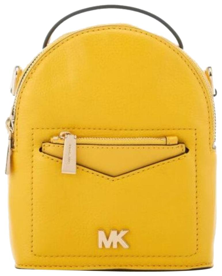 8b1ebead035b Michael Kors Jessa Xs Convertible Sunflower Leather Backpack - Tradesy
