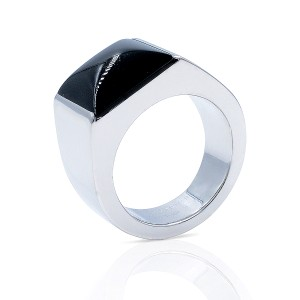 Cartier Cartier 18K White Gold Large Onyx Tank Ring (18953)