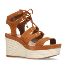 Vince Camuto Suede Espadrille Chic Sandal Brown Wedges