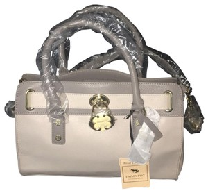 Emma Fox Satchel in grey, gold