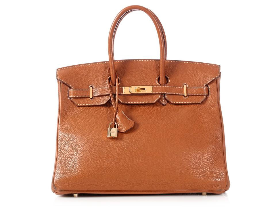 11f933123a Hermès Gold Hardware Hr.p0216.08 Togo Leather Satchel in Brown Image 0 ...