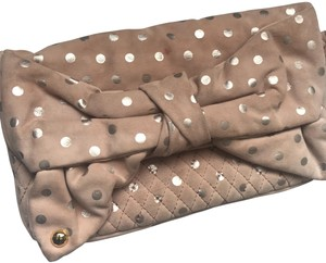 Juicy Couture pale pink with silver polka dots Clutch