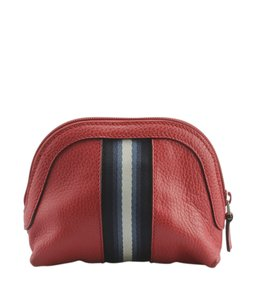 Gucci Cosmetic Leather Red Travel Bag