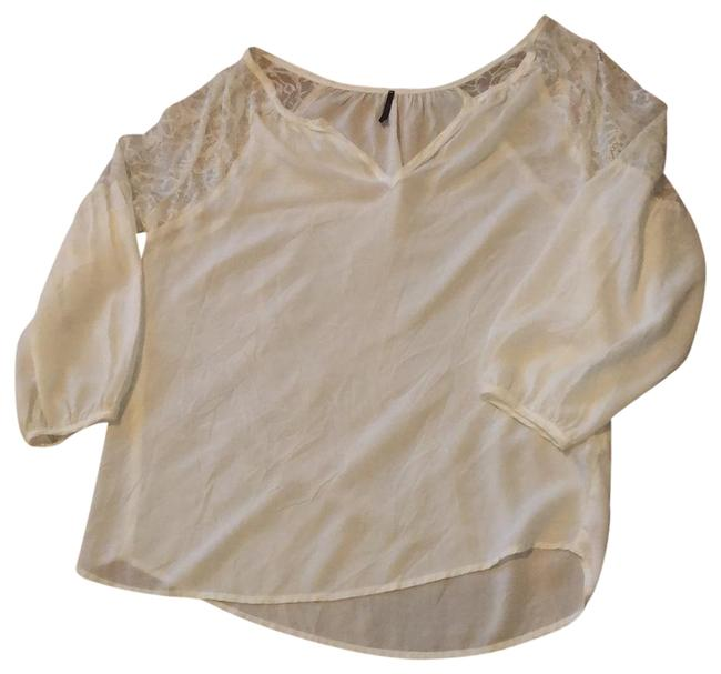 Item - White Lace Shoulders Tunic Size 4 (S)