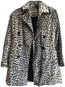 Free People Double Breasted Faux Fur Faux Pea Coat
