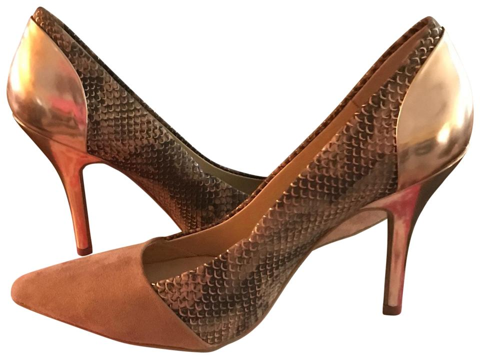 3793d0c0cc6 Dark Blush and Gold Snakeskin Chinese Laundry Formal Shoes Size US 8.5  Regular (M, B) 58% off retail