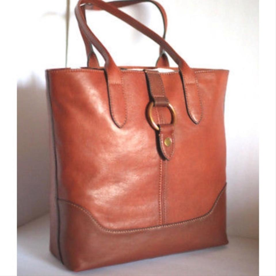 bd35abad29 Frye Ring Cognac Leather Tote - Tradesy