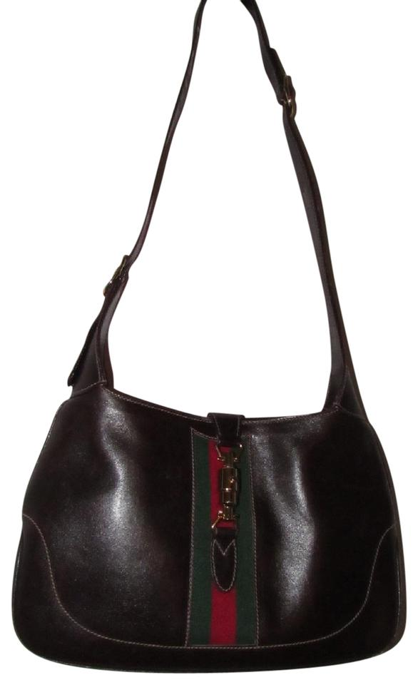 50d3a5bc7cf6 Gucci Red/Green Early Jackie O Dressy Or Casual Mint Vintage Hobo Bag Image  0 ...