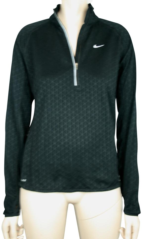 62e31f9750fb0 Nike Black White Dry Fit Athletic Shirt Top Long Sleeve Turtleneck  Activewear Outerwear. Size  8 ...