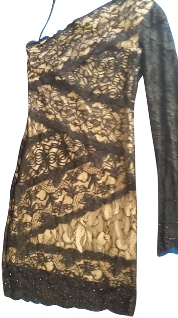Item - Black/Brown Mid-length Cocktail Dress Size 4 (S)