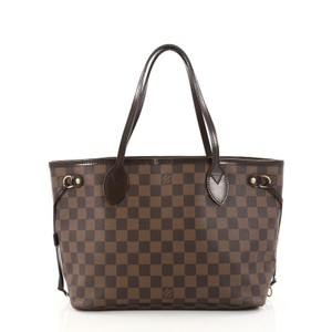 Louis Vuitton Neverfull Damier Tote in Brown