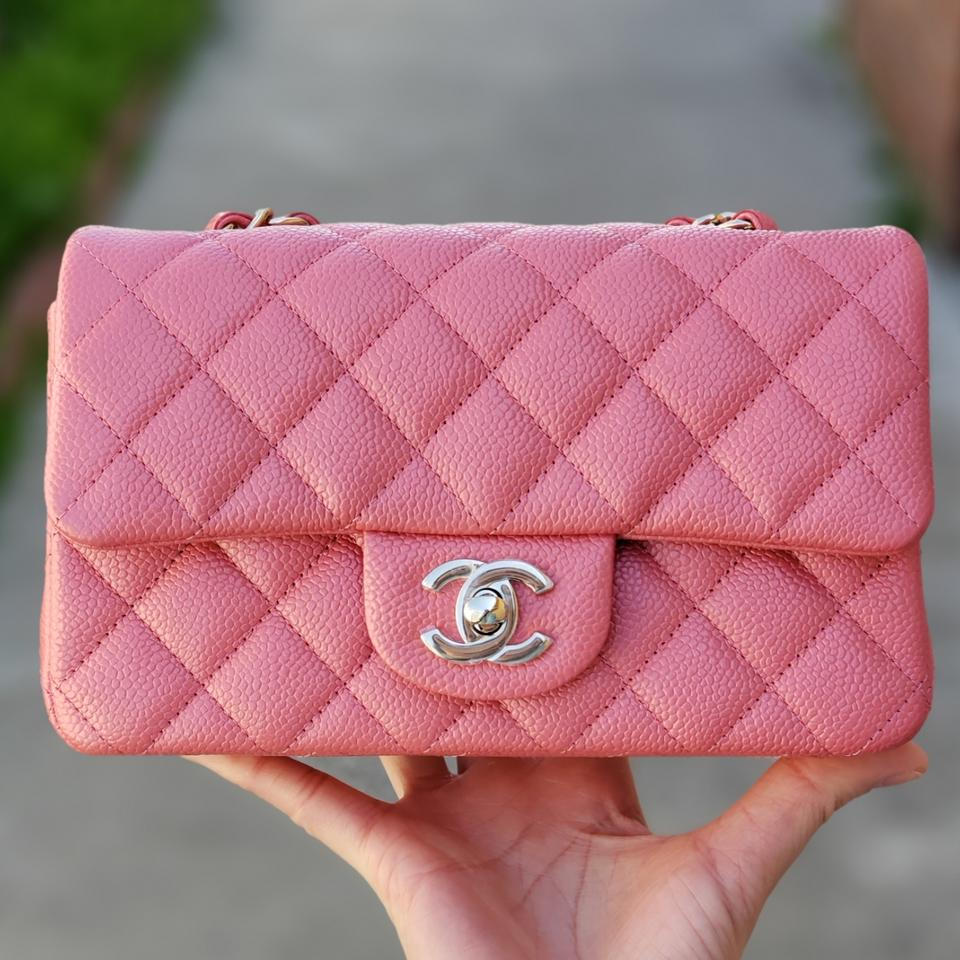b07b10c2516d81 Chanel Classic Flap Classic Mini Rectangular Pearly Pink Caviar ...