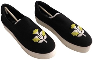 Opening Ceremony Slip On Embroidered Sneaker Cici Black Flats