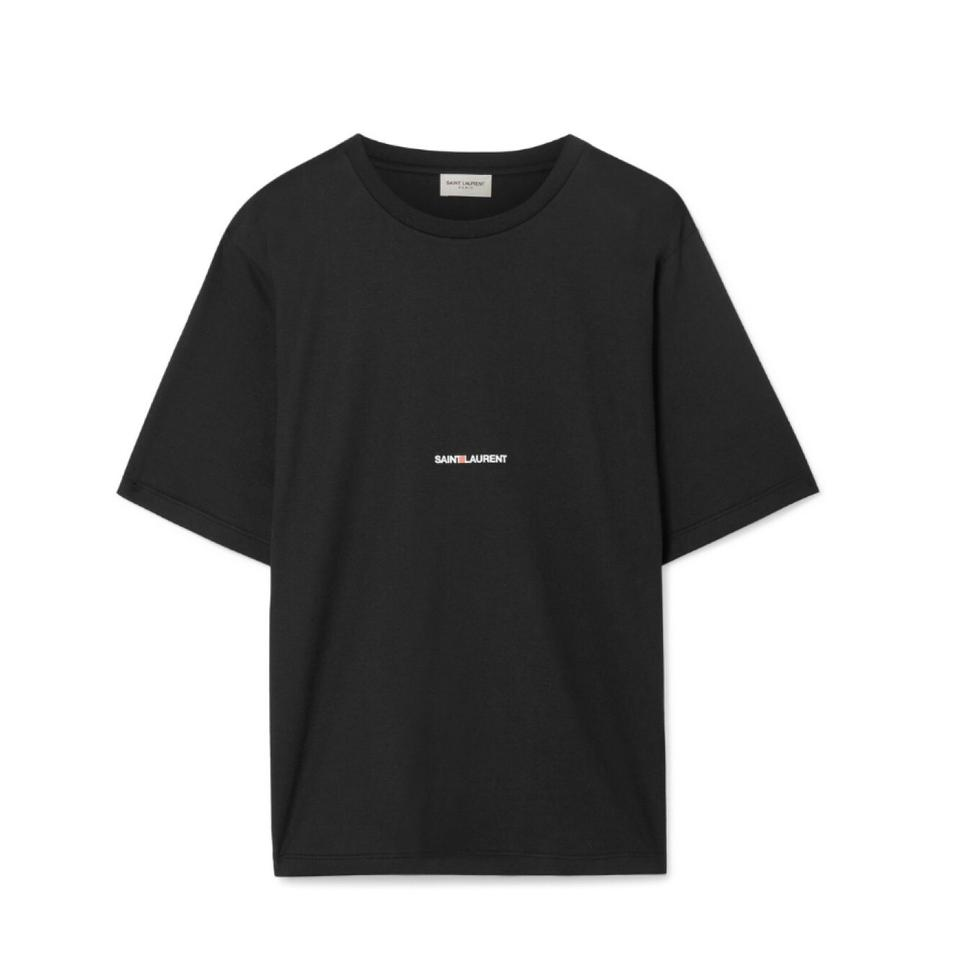 3f80f75f295 Saint Laurent Black Sleeve Boyfriend Tee Shirt Size 8 (M) - Tradesy