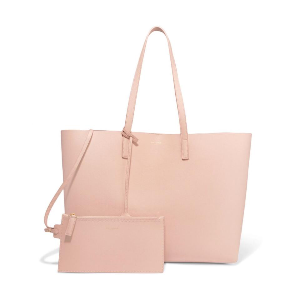 a92e7244e Saint Laurent Large Leather Shopping Tote - Tradesy