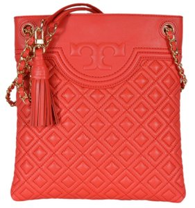 Tory Burch Quilted Fleming Tassels Cross Body Bag