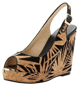 Jimmy Choo Beige/Black Wedges