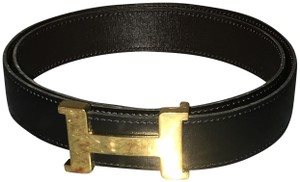 Hermès Hermes Constance Chocolate Brown Belt with Gold Buckle 75cm/30""