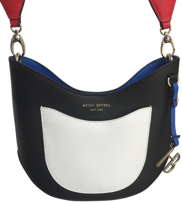 Item - West 57th St Colorblocked Mini Black-white-yellow-blue-red Leather Hobo Bag