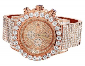 Jewelry Unlimited New Mens Simulated Hip Hop Diamond Watch 48MM BR-04