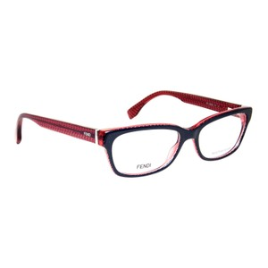 Fendi Fendi Micrologo FF 0004 7PP 53mm Dark Blue Red Rectangular Women's Eye