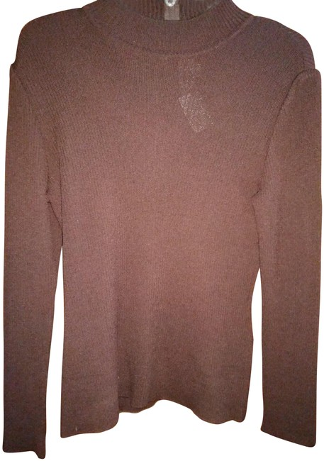 Item - 12 Rubbed Knit Dark Brown Sweater