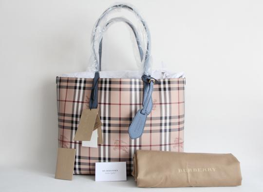 Burberry Reversible Leather Tote in Slate Blue Image 1