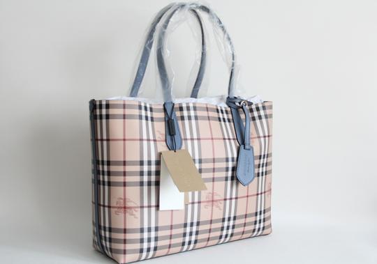 Burberry Reversible Leather Tote in Slate Blue Image 2