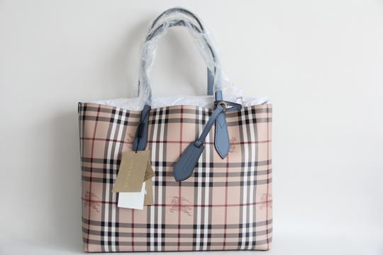 Burberry Reversible Leather Tote in Slate Blue Image 3