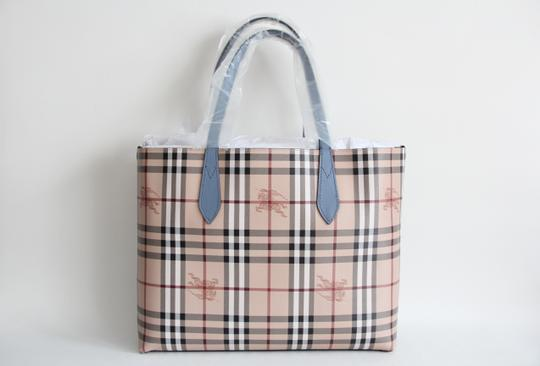 Burberry Reversible Leather Tote in Slate Blue Image 4