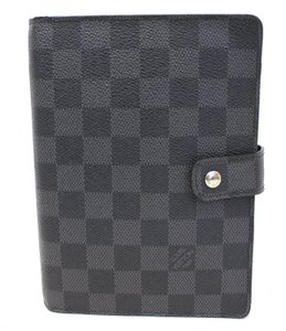 Louis Vuitton LOUIS VUITTON Damier Graphite Agenda MM Day Planner Cover