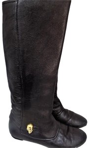 Alexander McQueen Skull Leather Black Boots