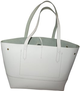 J.Crew Uptown Leather Marc Jacobs Tote in off white