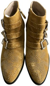 Chloé Studded Silver Dusty yellow Boots