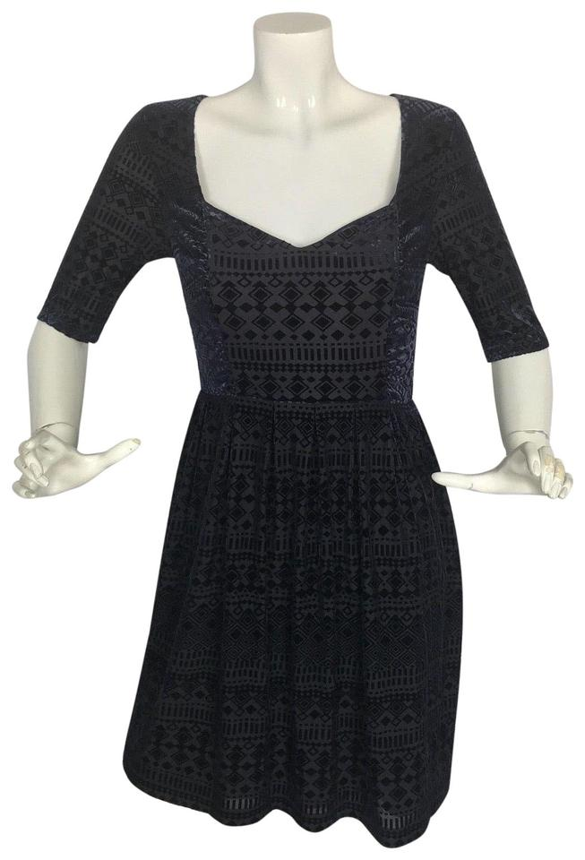 d79c8d4ce4bb Anthropologie Blue Navy Velvet Short Casual Dress Size 4 (S) - Tradesy