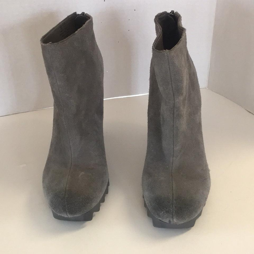 1cc04d2c6 Circus by Sam Edelman Gray Kensley Extreme Tread Suede Ankle Boots ...