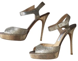 Jimmy Choo silver and gold Sandals