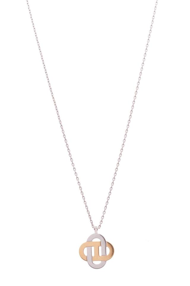 Herms silvergold isatis pendant necklace tradesy herms hermes isatis pendant necklace aloadofball Gallery