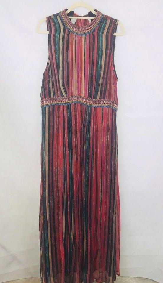 36a486613 Anthropologie Multicolor Artista Maxi By Bl-nk Long Night Out Dress ...