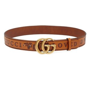 """Gucci 2018 80/32 Marmont Limited Spring Summer Loved Brown Leather 1.5"""""""