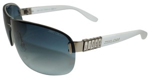 Jimmy Choo JIMMY CHOO SHIELD WHITE CRYSTAL SUNGLASSES FLO/S