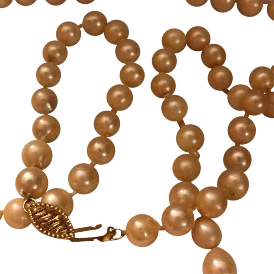 i pearls real colored cream necklace tradesy