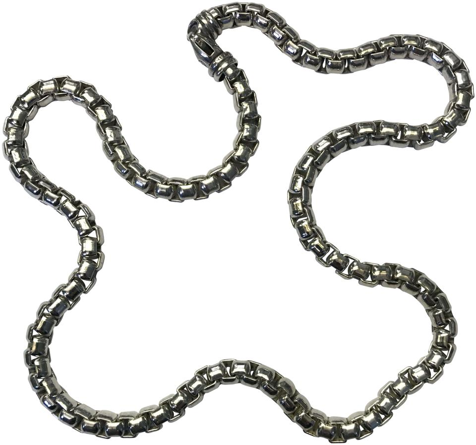 chain zoom link loading wheat titanium necklace