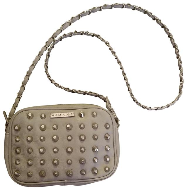 Item - Studded Grey Leather Cross Body Bag