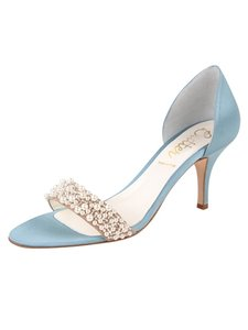 Something Bleu Bridal Pearls Satin Wedding Shoes