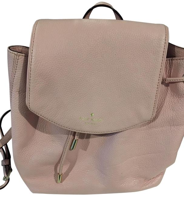 Item - Light with Gold Embellishments. Pink Leather Backpack