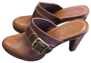 Coach whiskey brown Mules
