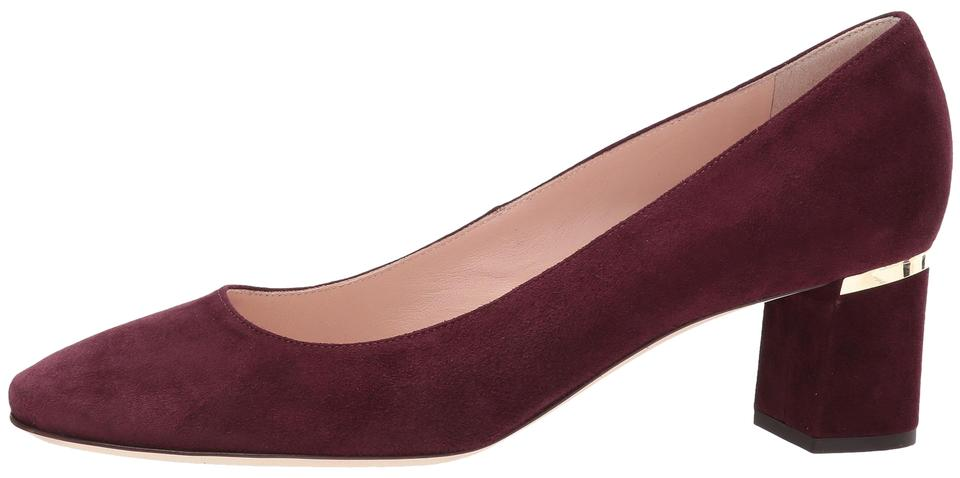 8164175553 Kate Spade Deep Cherry *new* Dolores Too Kid Suede Pumps Size US 7.5 ...