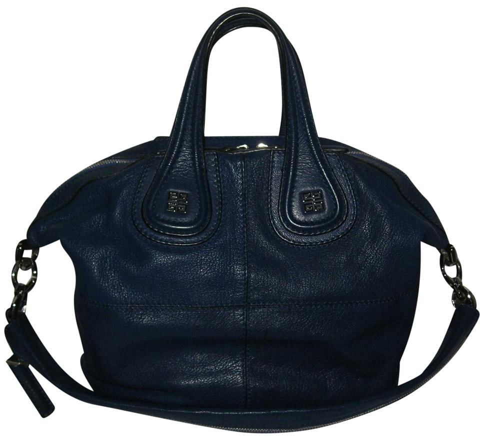 e1801a032311 Givenchy Goat Small Nightingale Leather Tote in Blue Image 0 ...