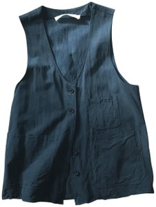Creatures of Comfort Tank Vest Safari Casual Button Down Shirt Forrest Green